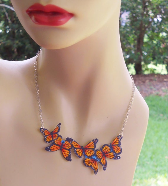 Items Similar To Monarch Butterfly Necklace Tattoo Jewelry