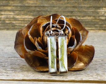 Juniper Copper Earrings, Real Plant Jewelry, Botanical Jewelry, Nature Jewelry