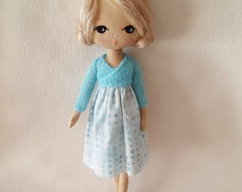 d258da4309cfe9 PDF Knitted Ballerina Wrap Cardigan Pattern for Gingermelon Sparkle Starlet  Doll