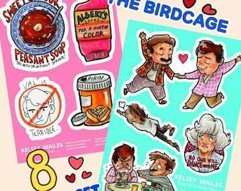The Birdcage Sticker Set