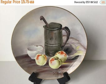 Sale Vintage Decorative Decorator Plate Made in Japan Robin Mara Hand Painted Fruit
