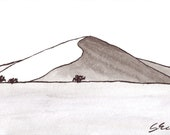 Dunes 1  - Namibia - 6 x 4  original ink paining