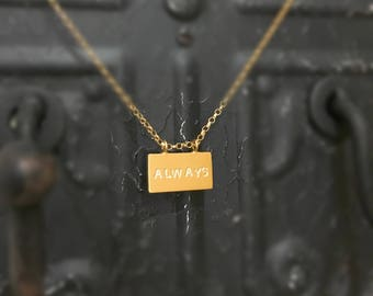 Rectangle Necklace,Personalized Bar Necklace,Initial Rectangle Necklace,Friendship Necklace,Initial Necklace,Personalized Rectangle Necklace