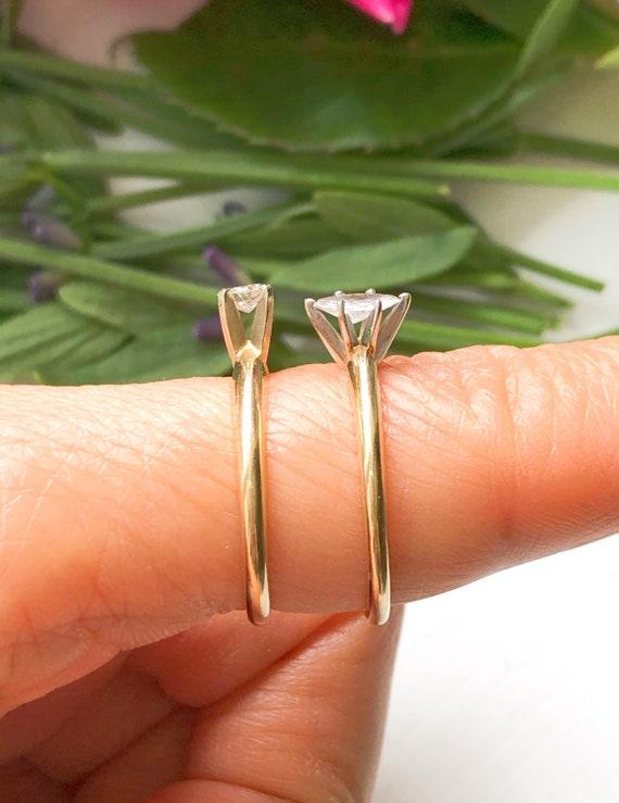 Vintage 14K Gold Solitaire Diamond Ring, Vintage … - image 8