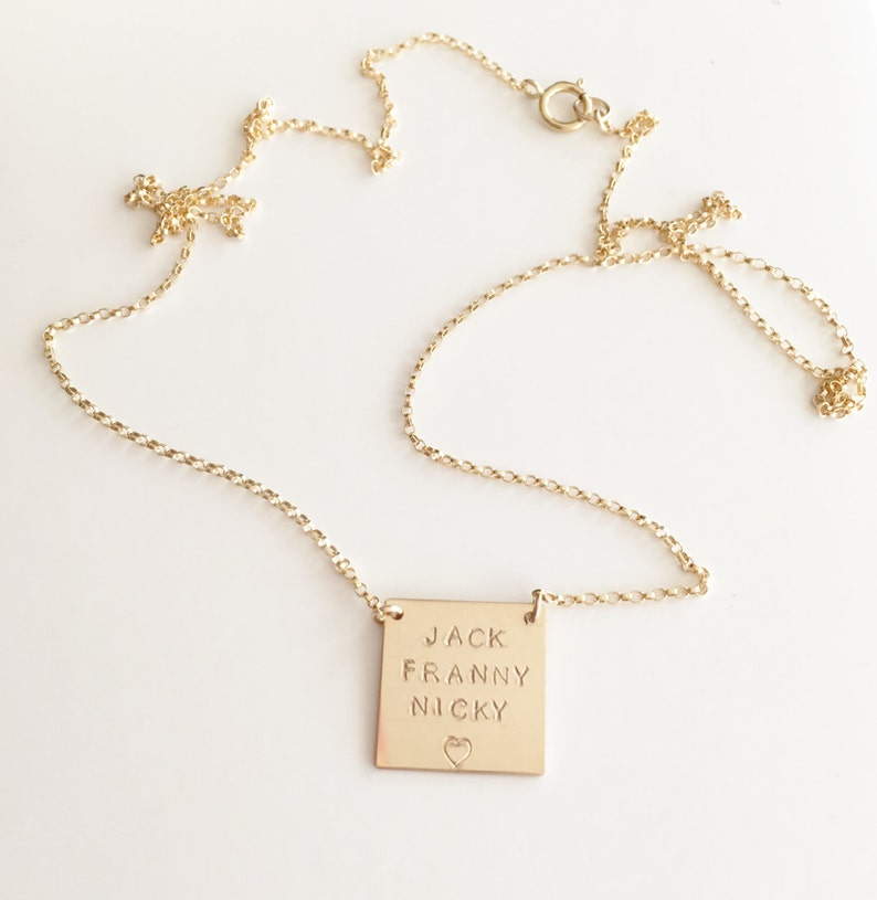 Classic Gold Finish Dainty Rolo Chain Triple Cross Metal Pendant Necklace