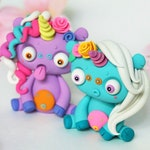 Little Lazies Weirdocorn 2-Pack | Pre-Order | Blind-Box | 2 Miniature Unicorn Figurines | Polymer Clay Sculptures | Handmade | Thank You!