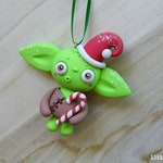 Little Lazies Yoda Ornament #15/15 | 1 Mini Polymer Clay Sculpture | Happy Holidays / Star Wars Inspired | LIMIT 1 per Person | Thank-You!