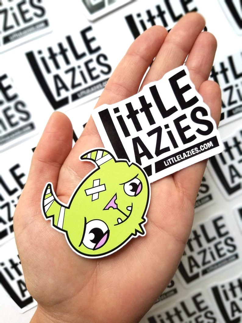 Little Lazies Logo Sticker 2-Pack  Die Cut  2x2 Inches  1 of Each