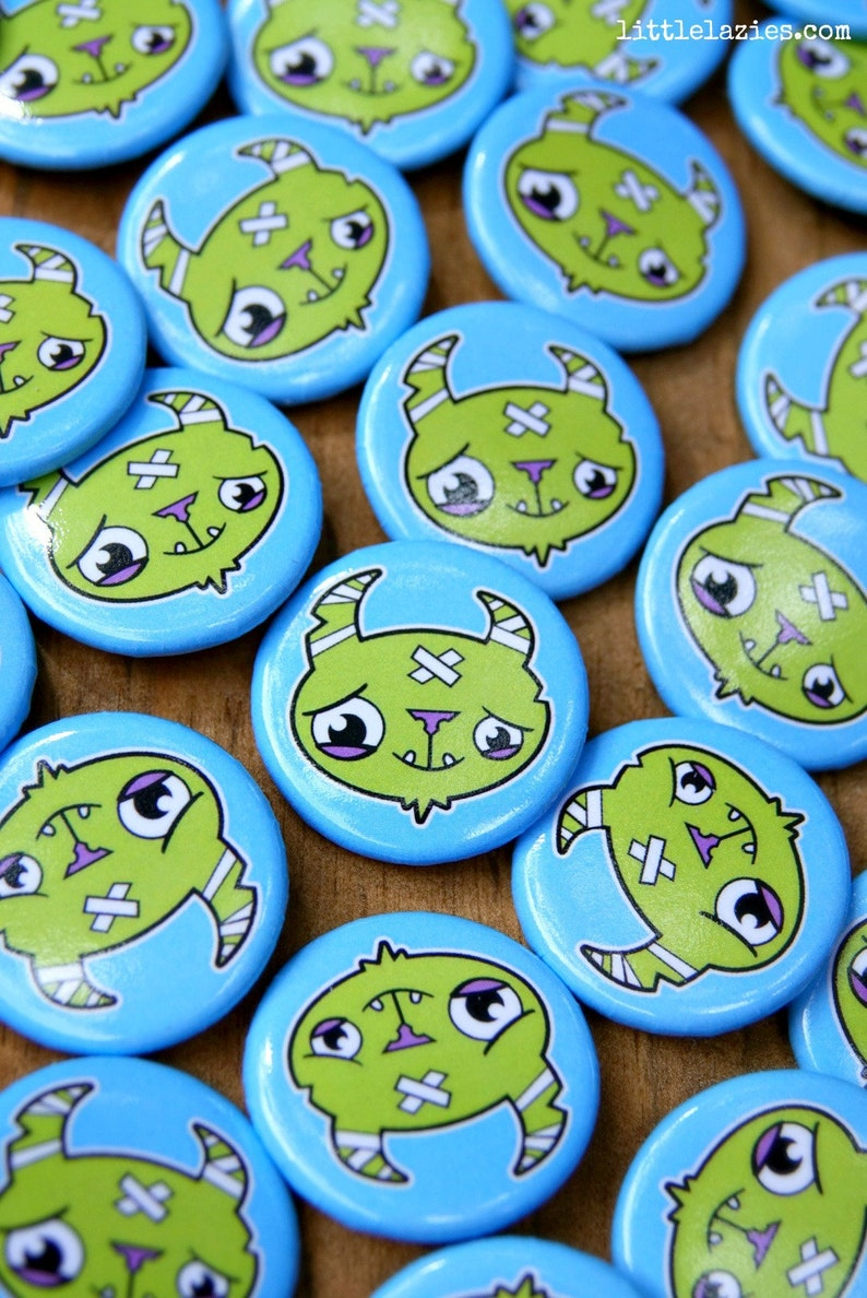 Exclusive Monster Head Button  Designed by Little image 0