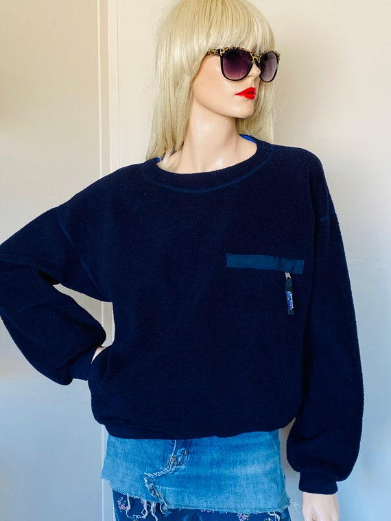 Vintage PATAGONIA SHERPA SWEATER Navy Blue PULLove