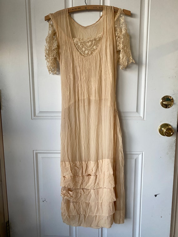 Twenties ANTIQUE DRESS & JACKET Vintage LACe Silk