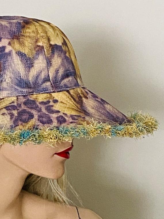 Beautiful STRAW Wide BRIMMED Vintage HAT Summer B… - image 1