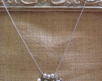 Dreaming of the Sea Silvertone Charm Necklace