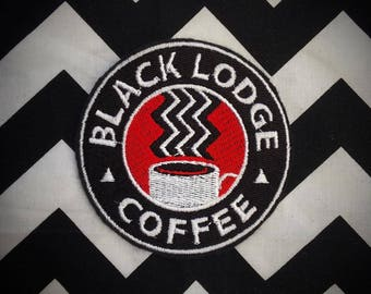 twin peaks coffee sew on or iron on patch
