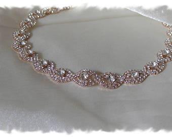Wedding headband rose gold  f5a4bd778a6