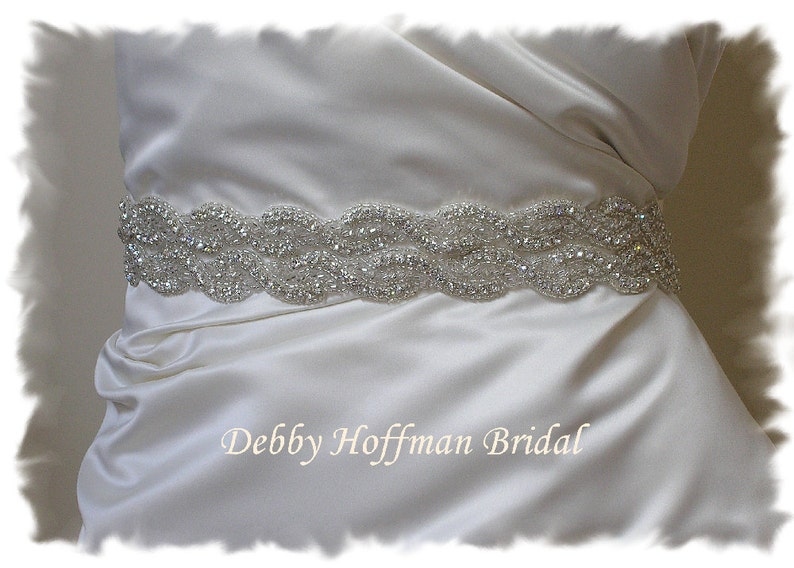 Wedding Belt 32 inch Rhinestone Crystal Wedding Dress Sash image 0
