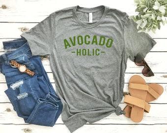 d2d7ae1a Avocado T Shirts - Shirts for Foodies - Avocado-holic - Shirts for Brunch  Avocadoholic - Extra Avo Shirt Avocado Toast Guac Unisex T-Shirt