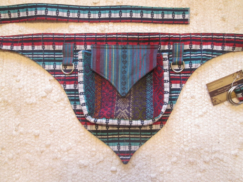 Festival Pocket Utility Belt Fanny Pack Burning Man Tribal Vegan