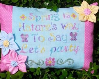 Schema punto croce Think Spring
