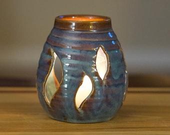 Votive Cut Candle Holder in Opal Glaze