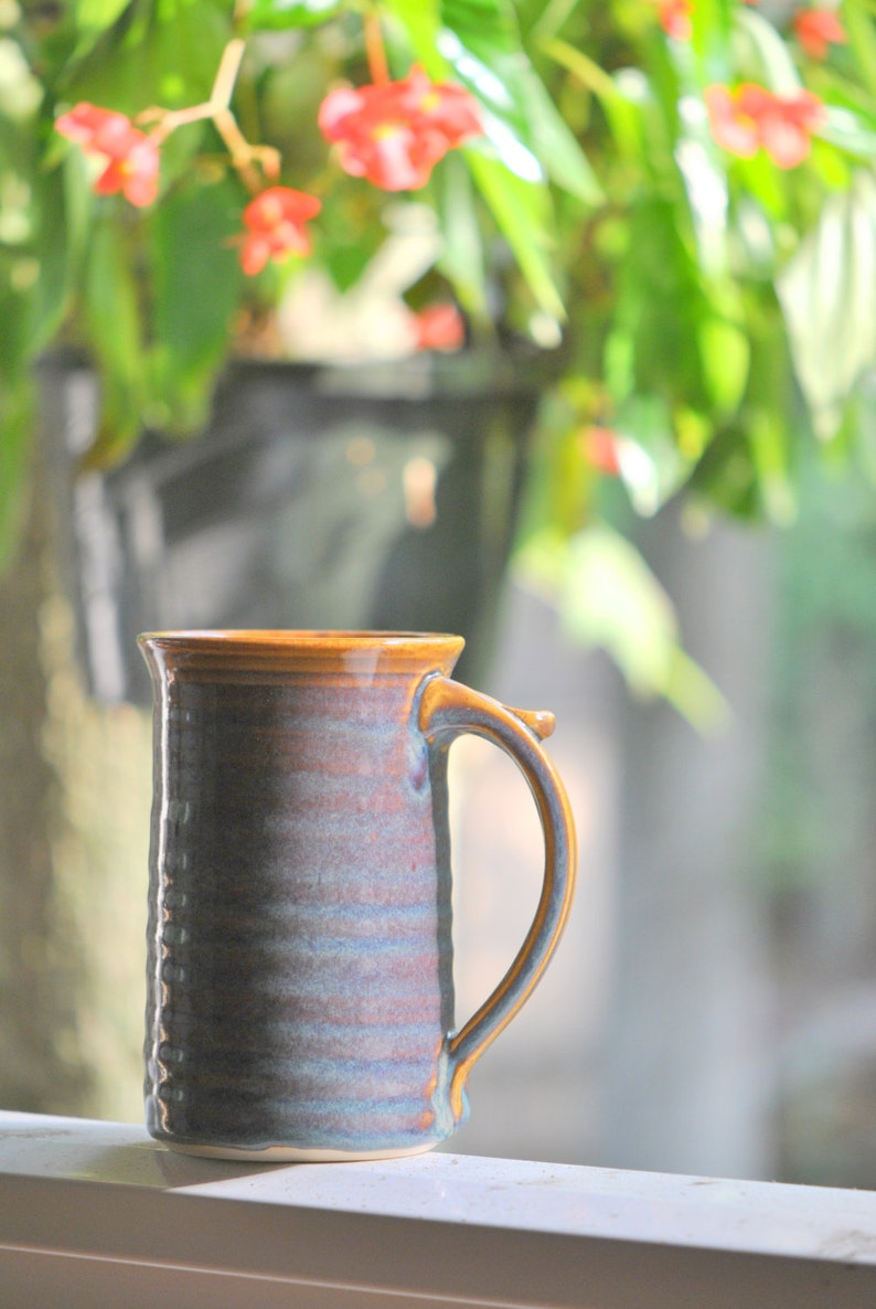 Large 16-ounce Stoneware Mug for Coffee or Tea in Opal image 0