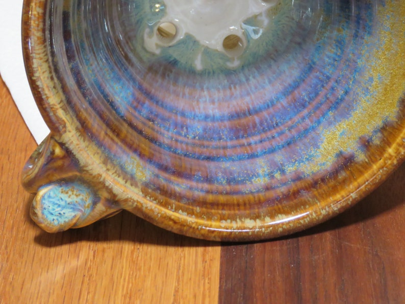 Pottery Pour Over Coffee Dripper in Brown Glaze image 0