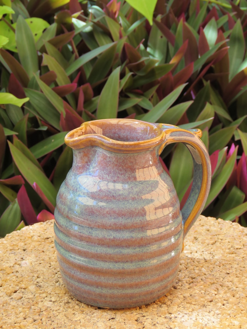 Pottery Creamer/Small Pitcher in Opal glaze image 0
