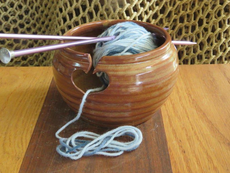 Pottery Yarn Bowl in Copper Glaze image 0