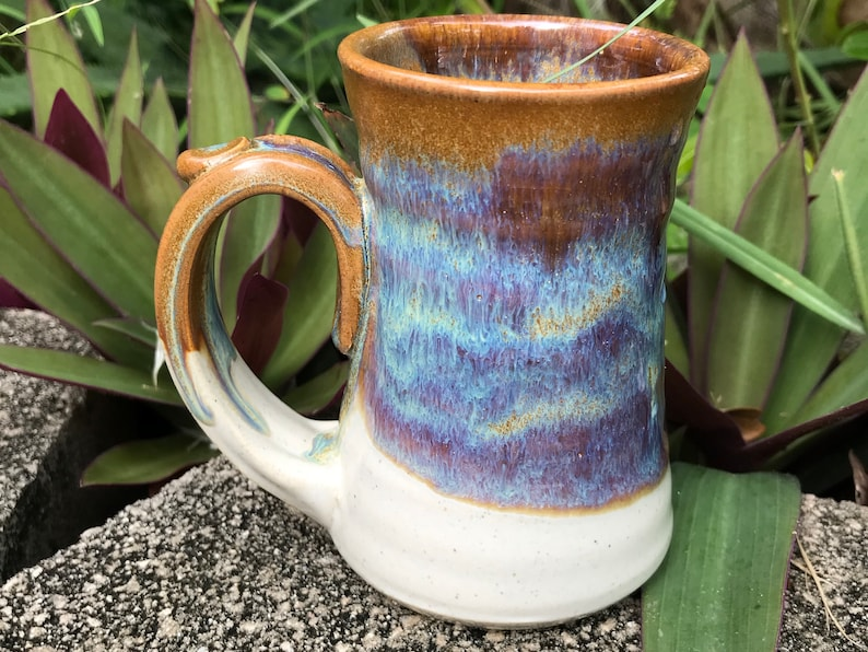 Pottery Coffee Mug in Brown wheelthrown 10-12 ounces image 0