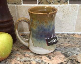 Pottery Mug in Brown Glaze 10 ounce