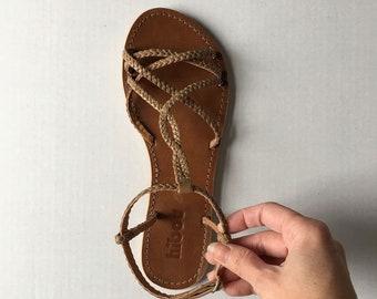 ecb0ad250473 Women braided sandal