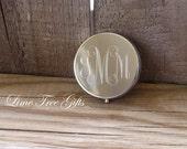 Engraved Monogram Pill Case or Mint Holder