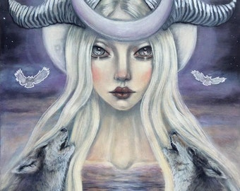 The Moon Tarot Card fine art print by Tammy Mae Moon