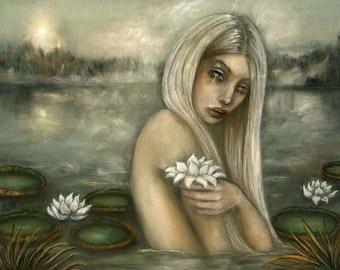 Rusalka Mermaid Mythology water nymph Slavic folklore 8x10 fine art print