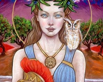 Athena Greek mythology Goddess fine art print by Tammy Wampler