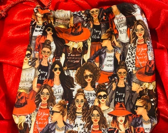 Satin-Lined Drawstring Bags