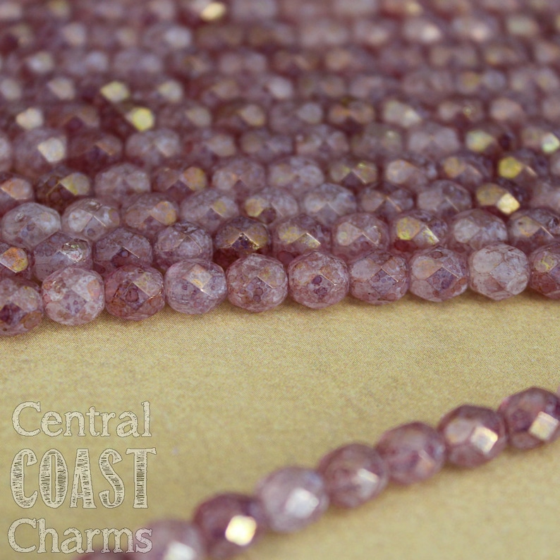 Czech Glass Fire Polished Faceted Round Picasso Beads  True image 0