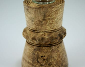 Maple Burl Vase with a Glass Insert for your Home Decor, V2828