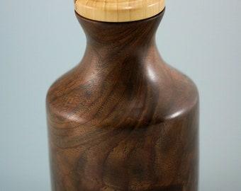 Wooden Vessel, Wood Vessel with Lid, Pet Urn