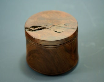 Wooden Box made from Figured Walnut, Western Walnut Box, Natural Edge Wood Box