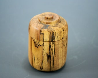 Spalted Maple Box, Wooden Box for Universal Use, X3159