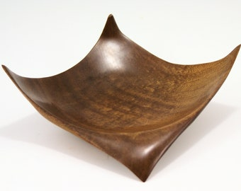Winged Bowl From Figured Sapele, A3011