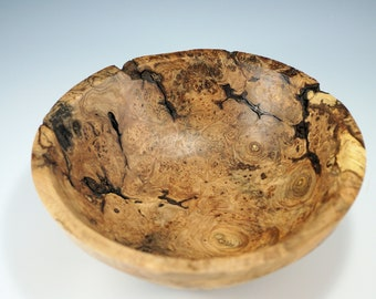 Maple Burl Art Bowl Centerpiece, Natures Best Display of Wood Art, B3122