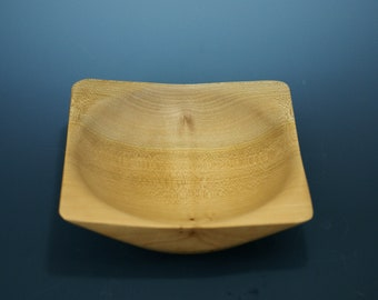 Individual Wooden Salad Bowl made from Maple Wood, Square Salad Bowl, B3145