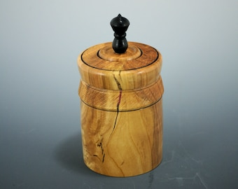 Cherry Wooden Lidded Keepsake Box, Wood Trinket Box, X3158
