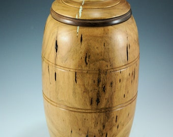 Cherry Lidded Vessel, Wooden Vessel Centerpiece