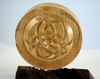Wood Art Gallery Display, Unique Wooden Art Center Piece