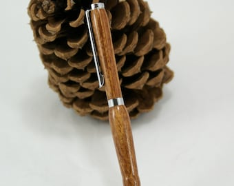 Bubinga Wooden Pen with Chrome Accents, W2997