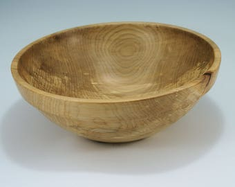 Large Wooden Salad Bowl HandMade from Western Maple, B2973