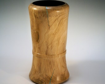 Cherry wooden vase hand made center piece for your home or office decor, wood vase, V2450